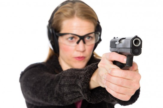 Woman-Aim-Gun-Firearm-Safety-Practice